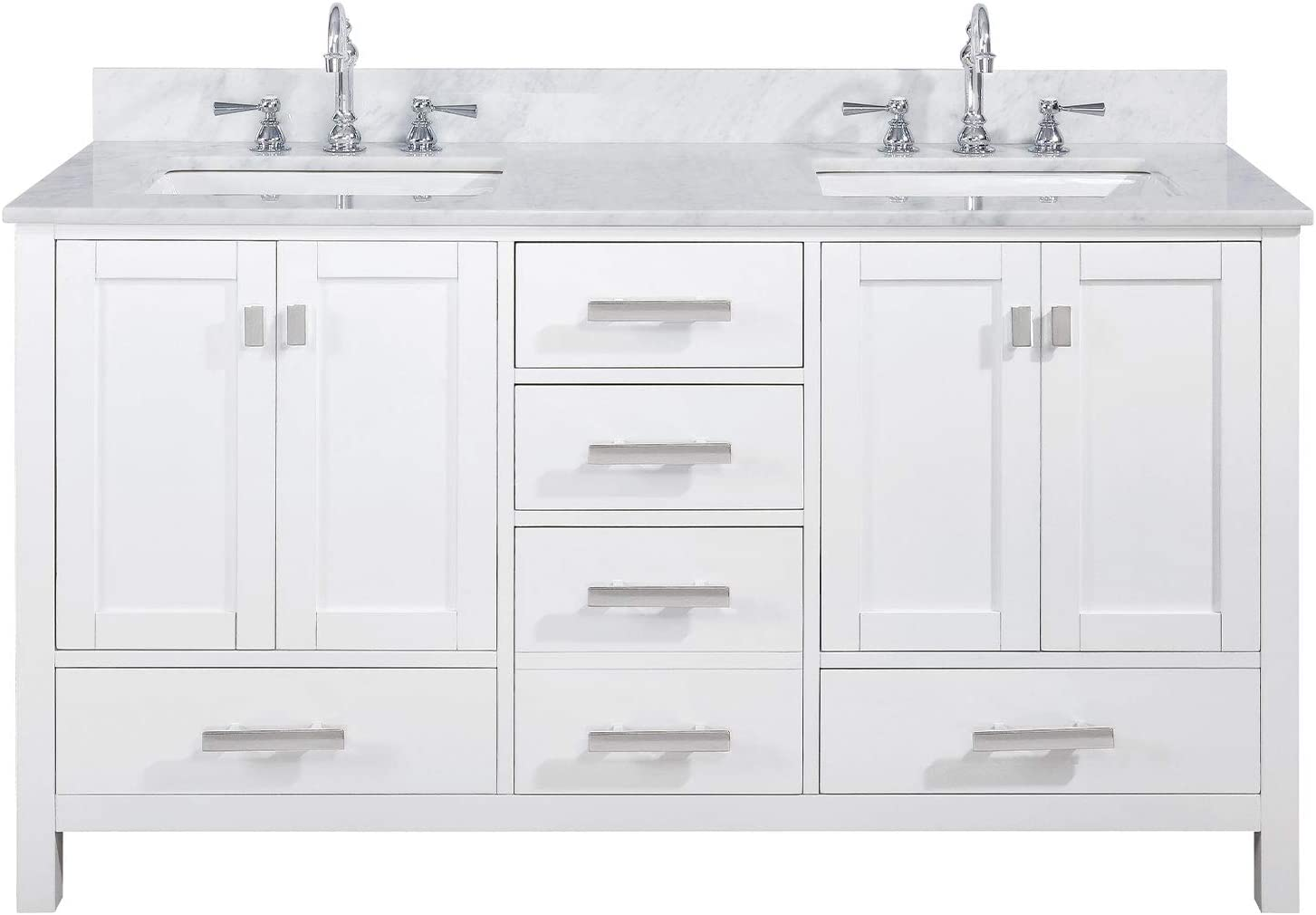 Online Fashion Shopping Luca Kitchen Bath Lc60pbw Tuscan 60 Double Bathroom Vanity Set In Midnight Blue With Carrara Marble Top And Sink Save Up To 50 Mhiron Hollandia Co Il