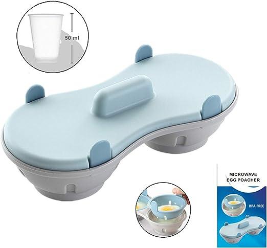 Amazon.com: Huevera para microondas, escalfadora de huevos ...
