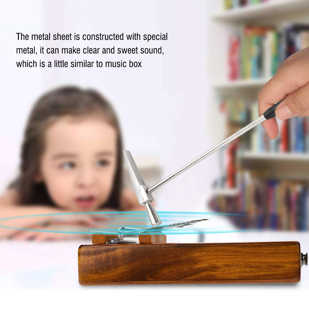 Kalimba 17 keys with Instruction and Tune Hammer, Portable 17 Key Wood Kalimba Thumb Piano Mbira Traditional Musical Instrument, Kalimba Thumb Piano Solid Finger Piano by Yosoo (Image #6)