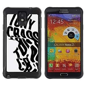 """Pulsar iFace Series Tpu silicona Carcasa Funda Case para SAMSUNG Galaxy Note 3 III / N9000 / N9005 , Palabras de la caligrafía del cartel Negro Gris"""""""