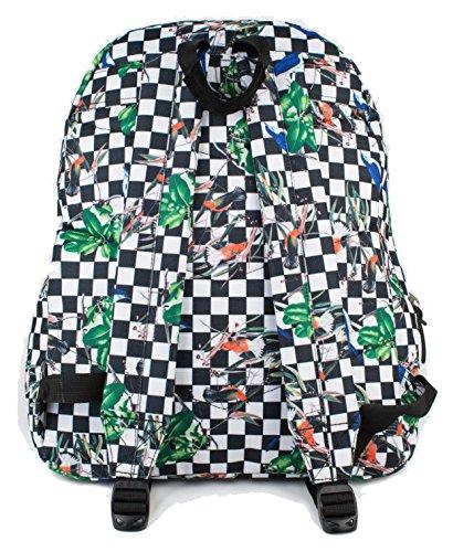 Hype Rucksack Taschen Rucksäcke–Schulranzen–viele neue Farben & Designs–wählen Sie Ihre Favoriten aus 40Styles, Speckled Black/Navy Blue (Schwarz) - Hype bag (Splatter Embroid) Checkerboard Birds