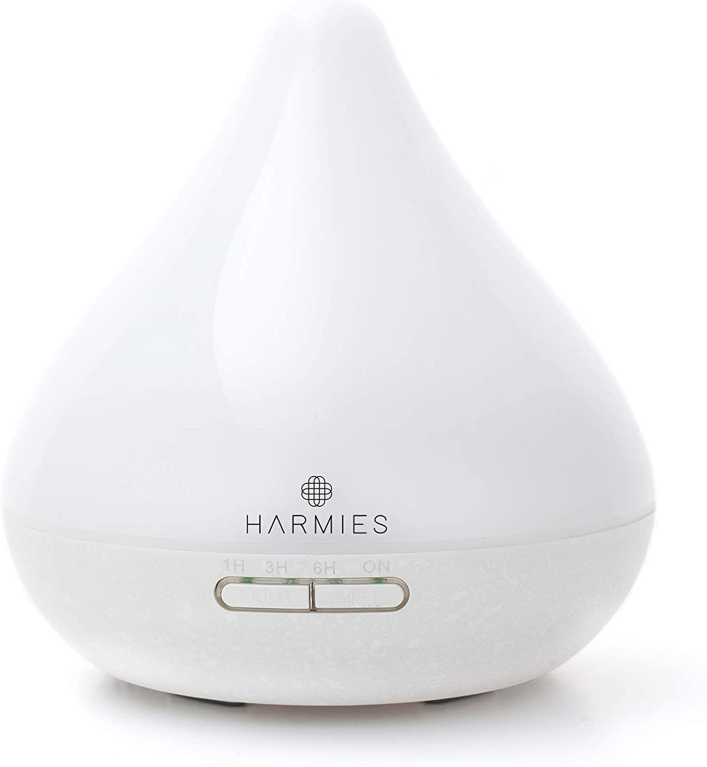 HARMIES 300ml Essential Oil Diffusers, Aromatherapy Diffuser and Humidifier for your Home, Office, Spa, with Ultrasonic Adjustable Cool Mist,