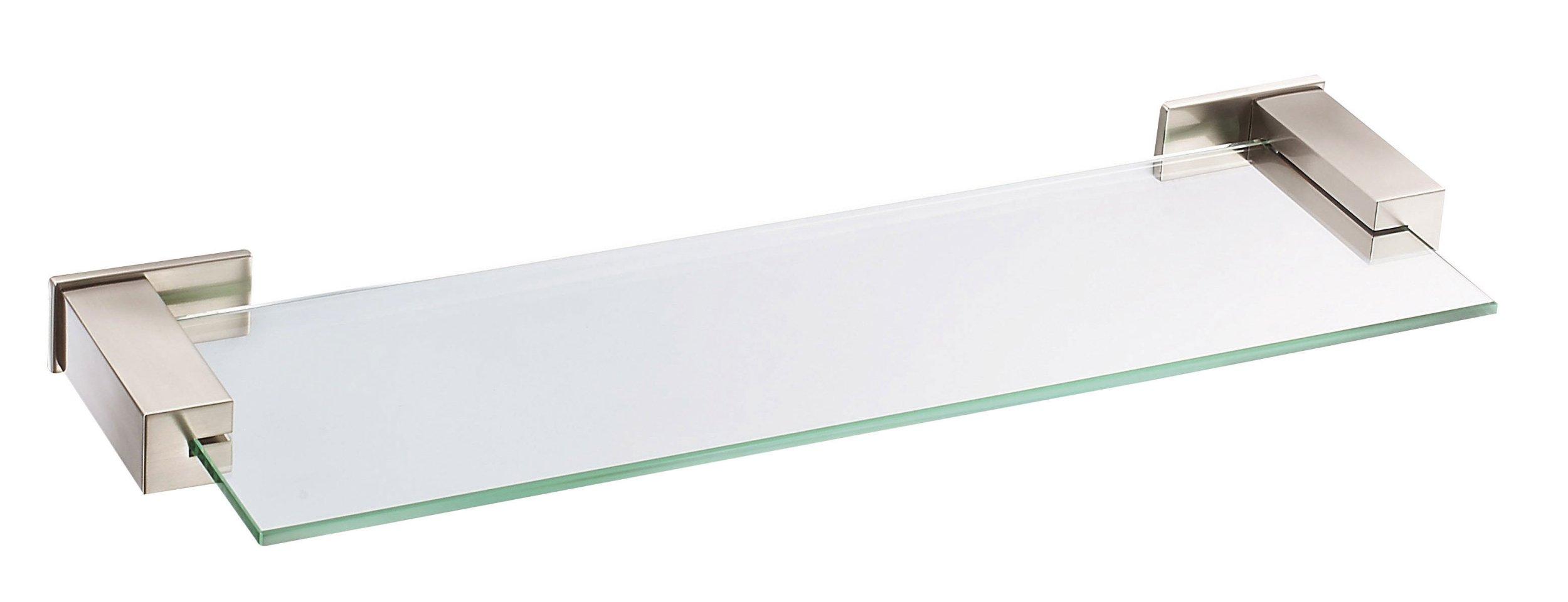 Danze D446134BN Sirius Glass Shelf, 18-Inch, Brushed Nickel