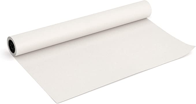 """2 Pack of 18"""" x 100/' Rolls White Kraft Arts and Crafts Paper Roll"""