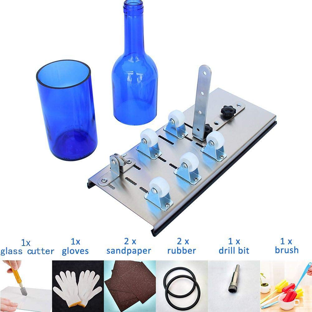 Glass Bottle Cutter,Round Bottle Cutting Machine for Cutting Wine, Beer, Liquor, Whiskey, Alcohol, Champagne, Water or Soda Round Bottles & Mason Jars to Craft Glasses by MinCHI257