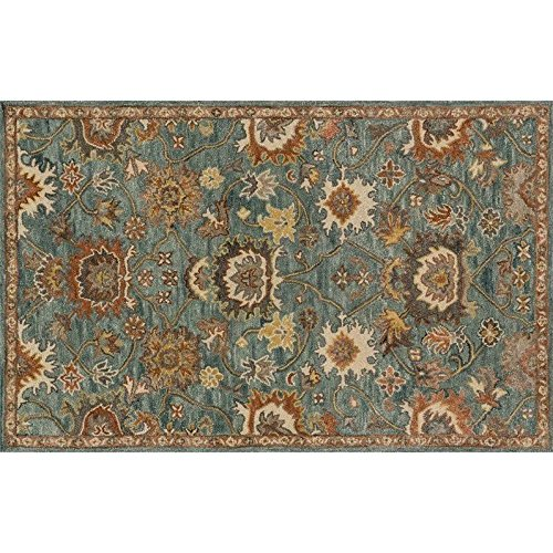 Loloi Rugs, Underwood Collection - Blue / Rust Area Rug, 7'-9