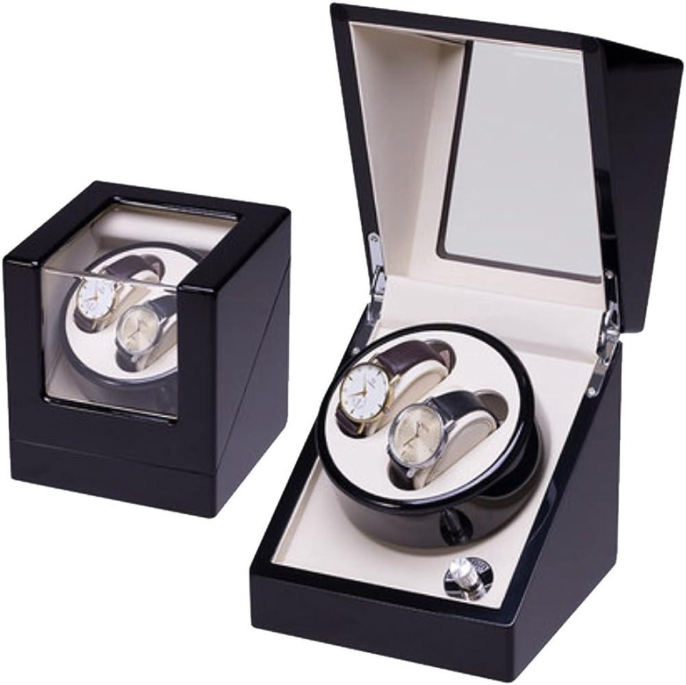 Caja Relojes Automaticos Reloj de Pulsera Winder Dual Watch Winders Reloj de Pulsera de Cuero Caja de Reloj Winder Case Automatic Rotation Winders (2 + 0,2 + 3,4 + 0,4 + 6) (Color : 2+0 Black+White): Amazon.es: Relojes