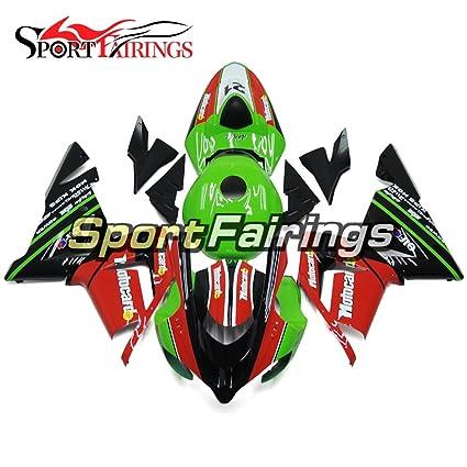 Amazoncom Sportfairings Green Red Abs Plastics Injection