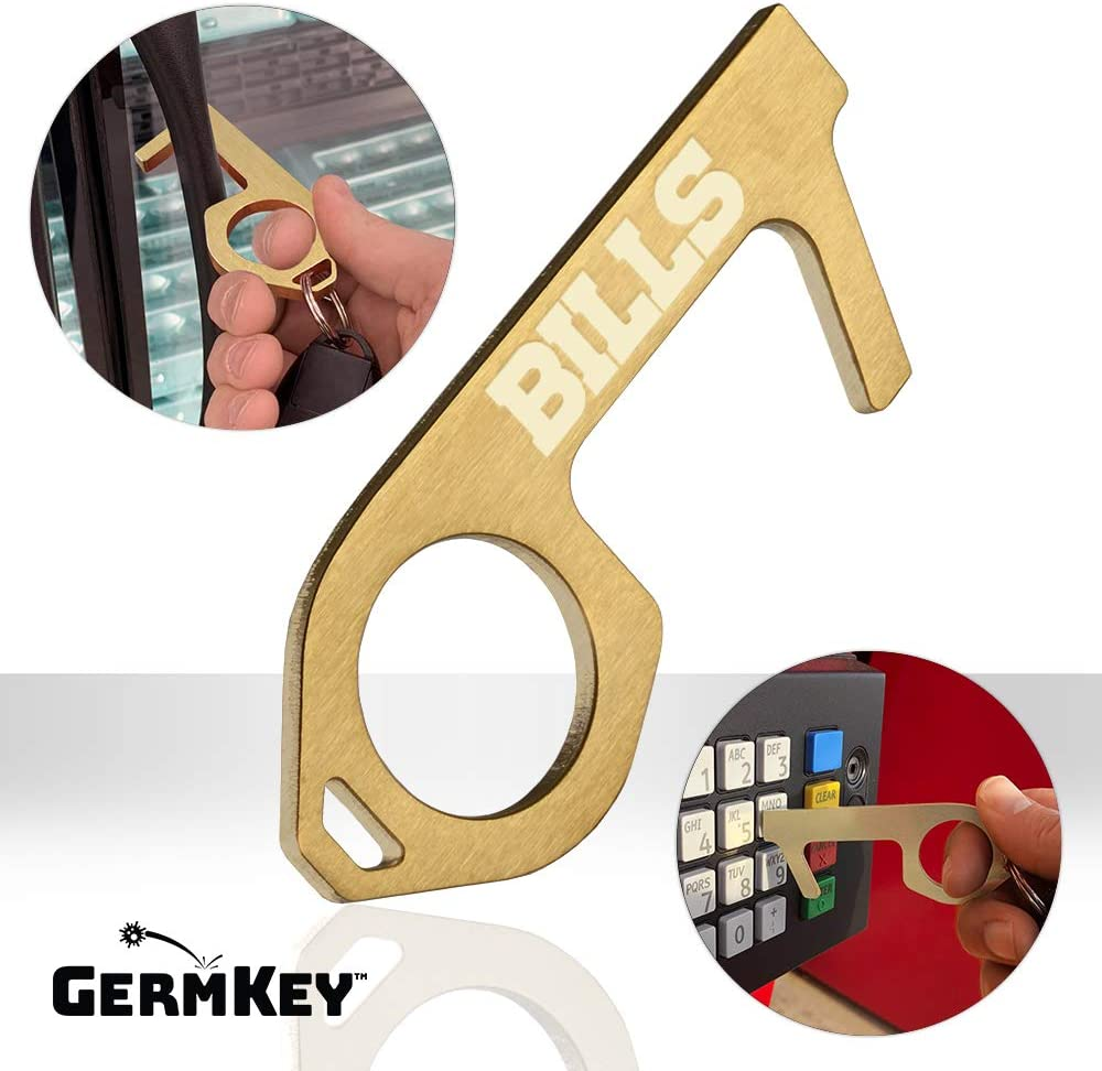 YouTheFan NFL GermKey Brass No Touch Hand Tool