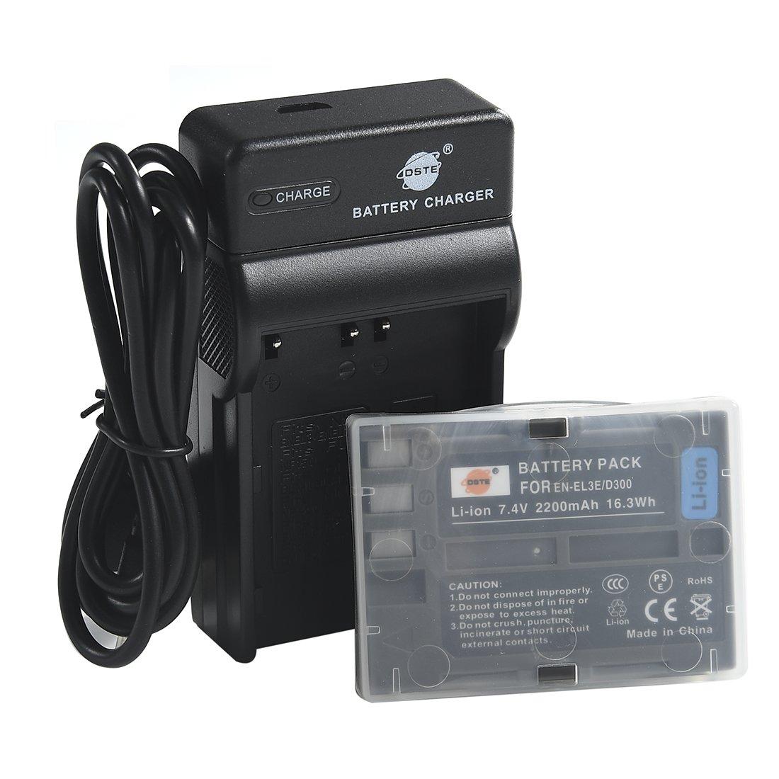 DSTE EN-EL3E Li-ion Batería Traje y cargador micro USB para ...