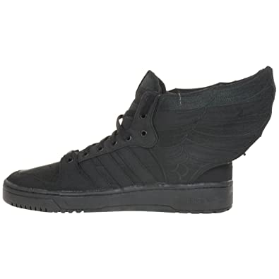 sports shoes 05912 2c2ce adidas Originals JS Wings 2.0 Black Flag Jeremy Scott D65206 Trainer Shoes  Black Black Size  8  Amazon.co.uk  Shoes   Bags