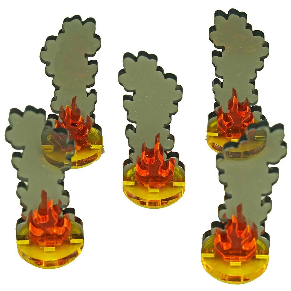 LITKO Medium Flaming Wreckage Markers (5) by LITKO