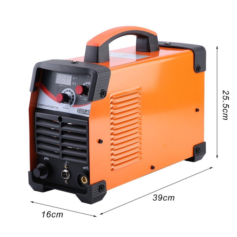 iCoco cut40d Plasma Schneider weldinger sudor dispositivo Plasma Cutter 220 V 40 Amps con soldador eléctrico Impresión Digital ( Naranja): Amazon.es: ...