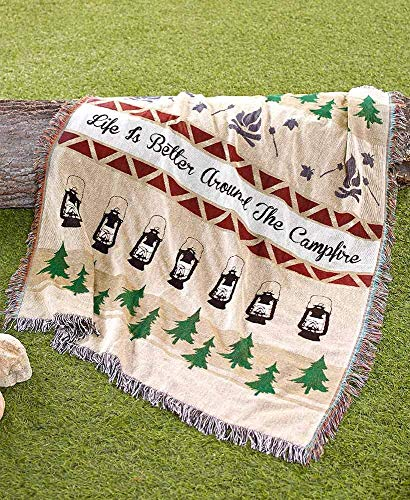 The Lakeside Collection Campfire Tapestry Throw (Stadium Chairs Yankee)