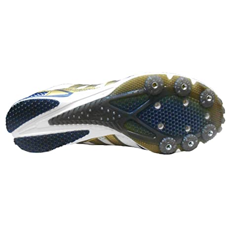 Amazon.com | adidas Mens Adizero Avanti Track and Field Cleats (8.5, Running White/Metallic Gold/Cool Navy) | Football