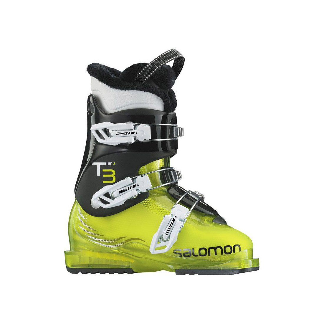 Salomon T3 RT Ski Boot Youth Acid Green/Black 23.5 by Salomon