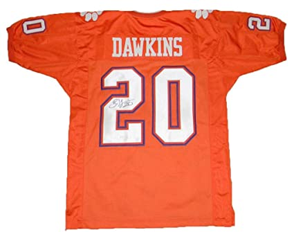 cheap for discount 27ab7 77790 Autographed Brian Dawkins Jersey - Orange #20 - JSA ...