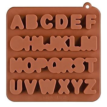 Molde De Pastel De Silicona 26 Molde De Chocolate De Silicona Del Alfabeto Inglés Molde De