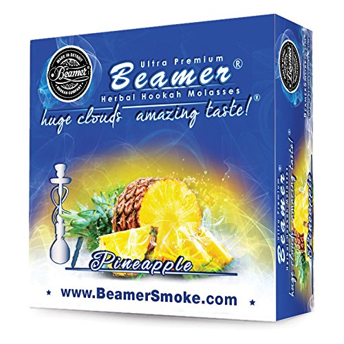 - Pineapple Beamer Herbal Hookah Shisha Molasses 50g. Huge Clouds, Amazing Taste! Tobacco Free, Nicotine Free. Better Taste & Clouds than tobacco. Made in USA! Use with Hookah Nargila, charcoal