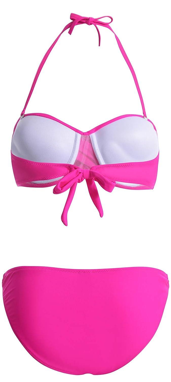 Bettydom Donna Costumi da Bagno Collo Appeso Mare Spiaggia e Piscina Bikini Triangolo Tankini Set