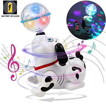 Toyshine Dancing Dog with Music, Flashing Lights (Battery Included)