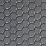 Rubber Cal Coin-Grip Flooring and Rolling Mat, Dark Grey, 2mm x 4 x 10-Feet