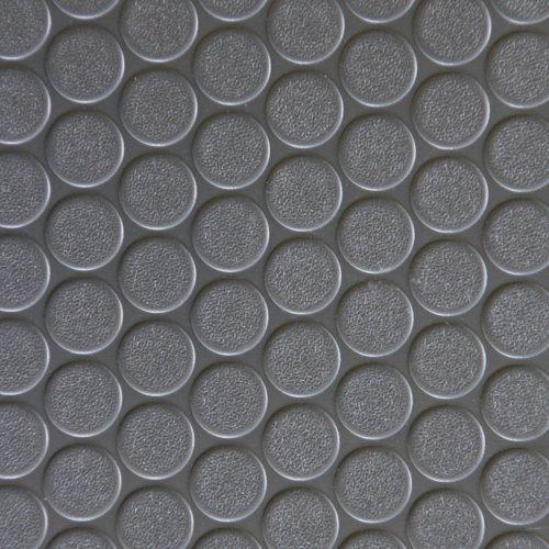 Rubber Cal Coin-Grip Flooring and Rolling Mat, Dark Grey, 2mm x 4 x 12-Feet by Rubber-Cal
