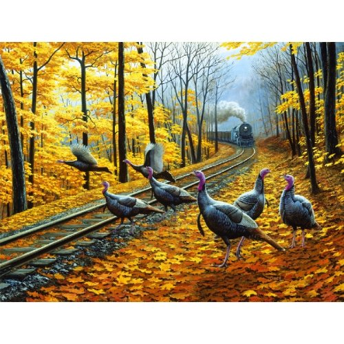 Turkey Tracks 500 pc Jigsaw Puzzle