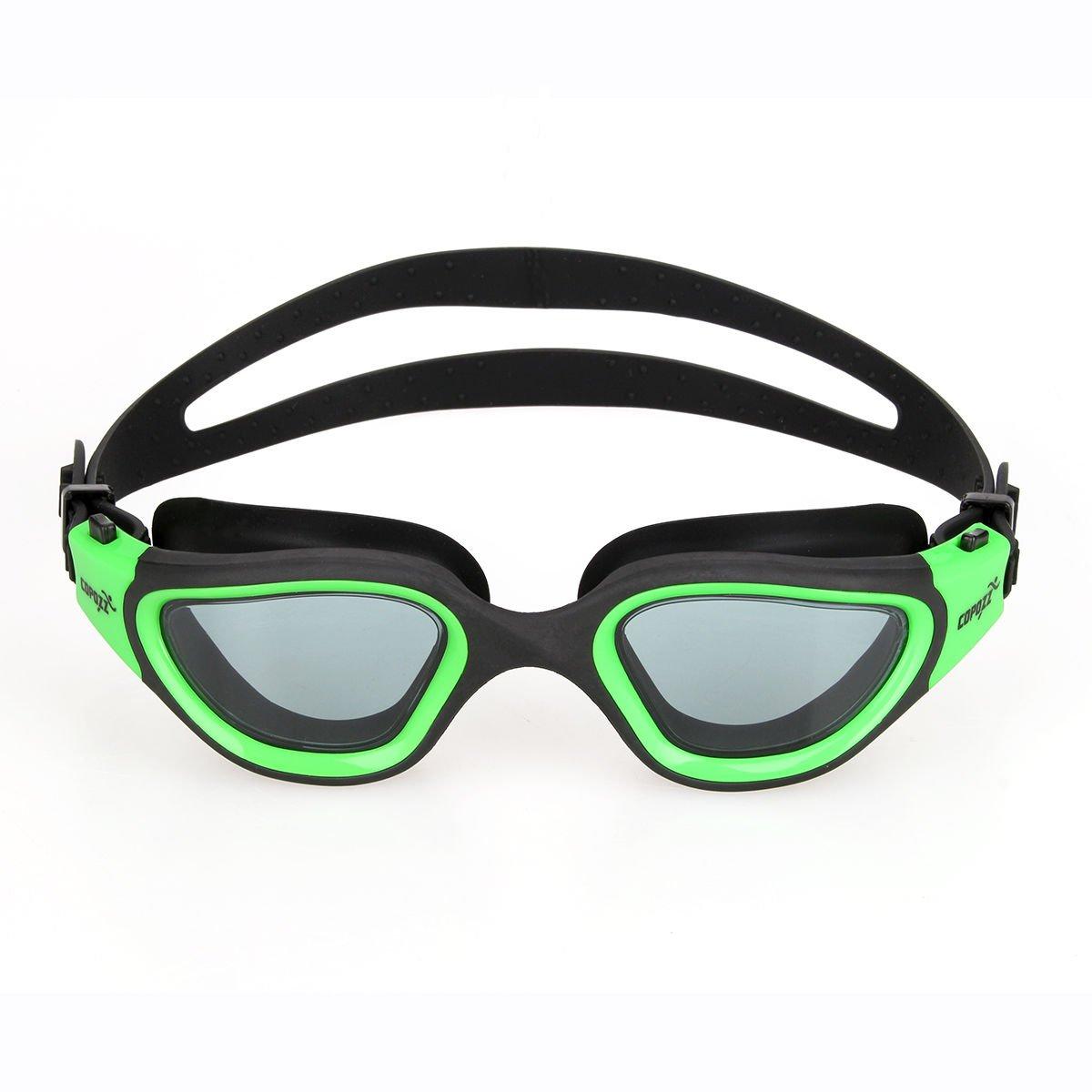 グリーンSwim水泳ゴーグル大人用ユニセックスシリコン曇り止め調節可能なメガネ B072QZN963