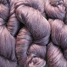 Living Dreams Elegance Super Bulky Yarn for Needle Knitting and Crochet; Merino Wool Tussah Silk Blend; 110 grams, 65 meters; Garnet