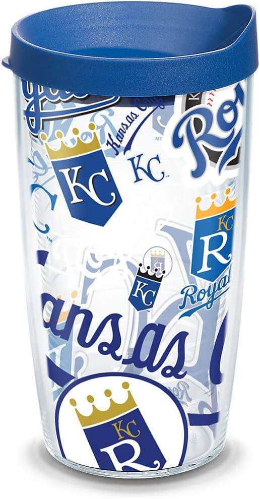 Tervis MLB Kansas City Royals Tumbler with Travel Lid, 16 Ounce, Clear