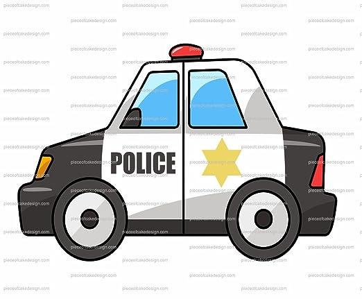 POLICEMAN/'S HAT Standups 12 Edible Standup Premium Wafer Cake Toppers