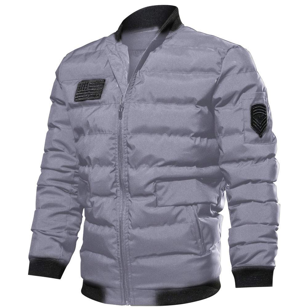 Rovinci_Mens Jacket - Padded Mens Warm Jacket, Lightweight Winter Jacket, Flight Jacket with Heavy Brass Zip - Ideal in Cold Weather