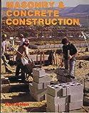 Masonry and Concrete Construction, Ken Nolan, 0910460922