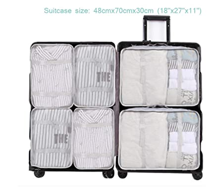 6cd7d58ad72b Sarazong Pack Of 6 Packing Cubes,Waterproof Packing Pouch Cubes ...
