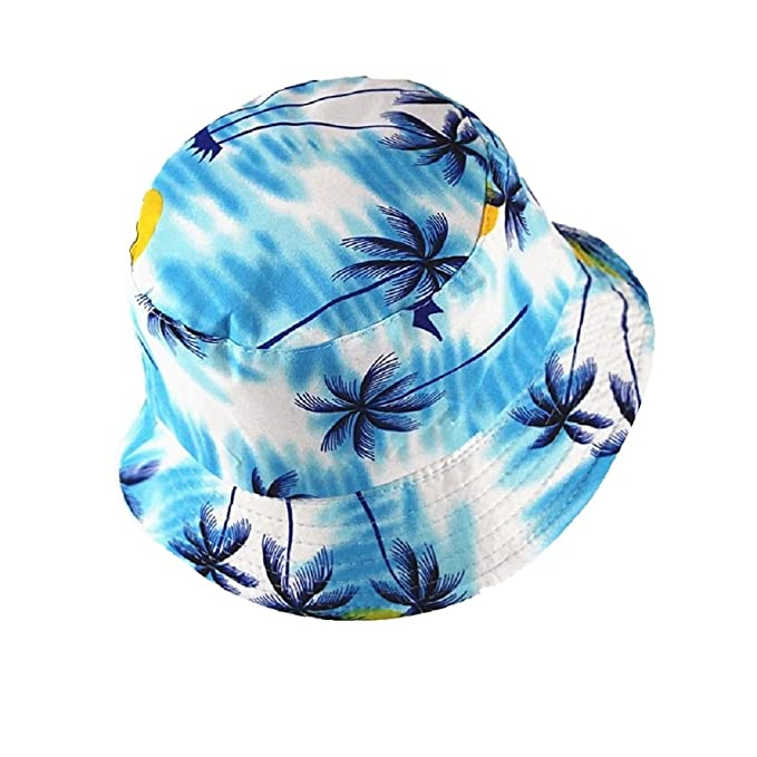 04e50d13e4a8 CoziBreath Summer Bucket Hat for Men Women with Hawaiian Tropical Scenery  Palm Trees Flower Golf Cap