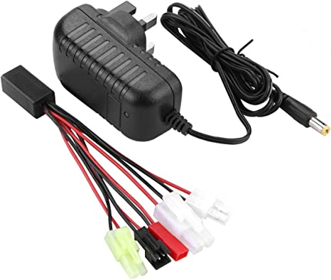 Airsoft RC Toy Battery Wall Charger NiCD NiMH Small Mini Tamiya Connector