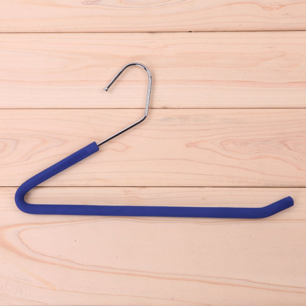 Premium quality space saving sponge hangers for pants heavy duty slacks trousers hangers open ended pants black-blue 34x20cm(13x8inch) GHGBNCVGDFG