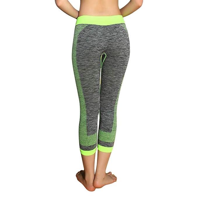 refulgence Women 3/4Yoga Pants, Women Yoga Pants Sports Fitness Pant Womens Running Strength Pants