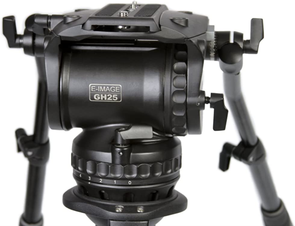 Renewed Black E-Image GH15 100mm Pro Fluid Video Head