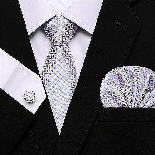 QEHWS Corbata Tie Set Gold Tie Pocket Ties para Trajes De Hombre ...