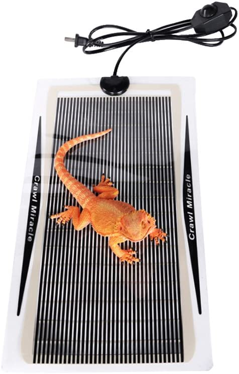 Bhbuy Upgrade Reptile Heating Pad Pet Heating Mat US Plug 110V Reptile Tank Warmer with Temperature Controller