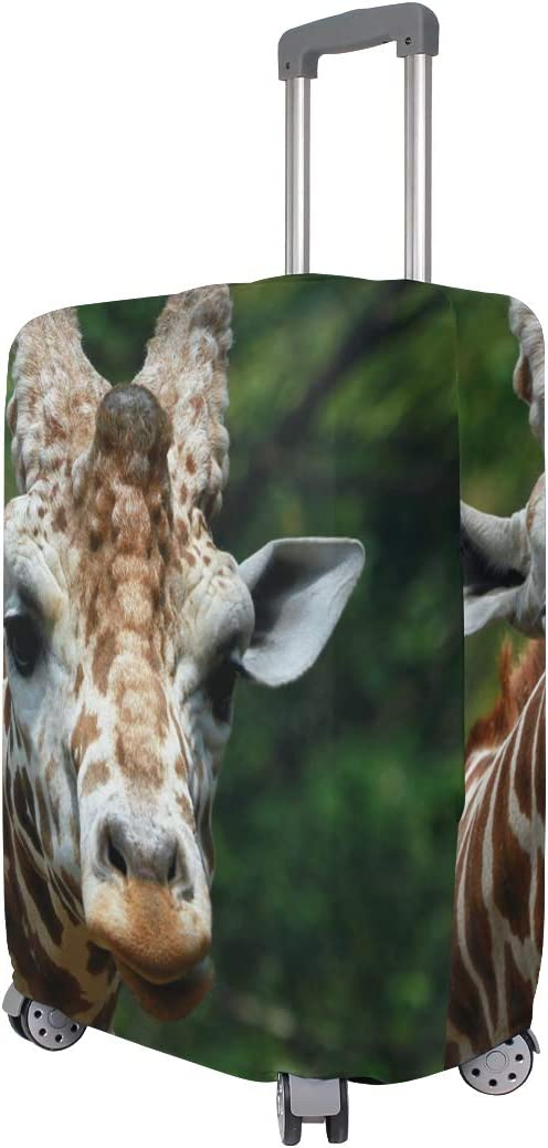 Travel Luggage Cover Nature Animal Giraffe Zoo Suitcase Protector