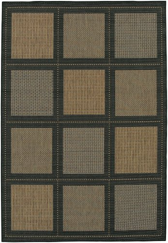 Couristan 1043/2500 Recife Summit 7-Feet 6-Inch by 10-Feet 9-Inch Rug, Cocoa Black (Collection Black Cocoa Recife)