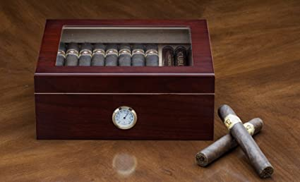 The Chalet Glass Top Cigar Humidor