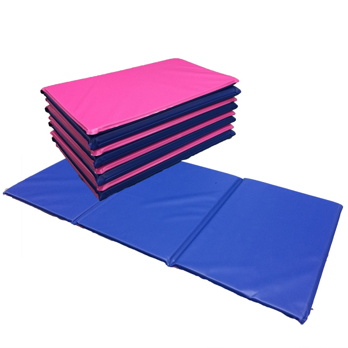 NEW 5x Triple Folding Nursery Sleep Mats in Pink / Blue for Children & Toddlers Active Learning 681
