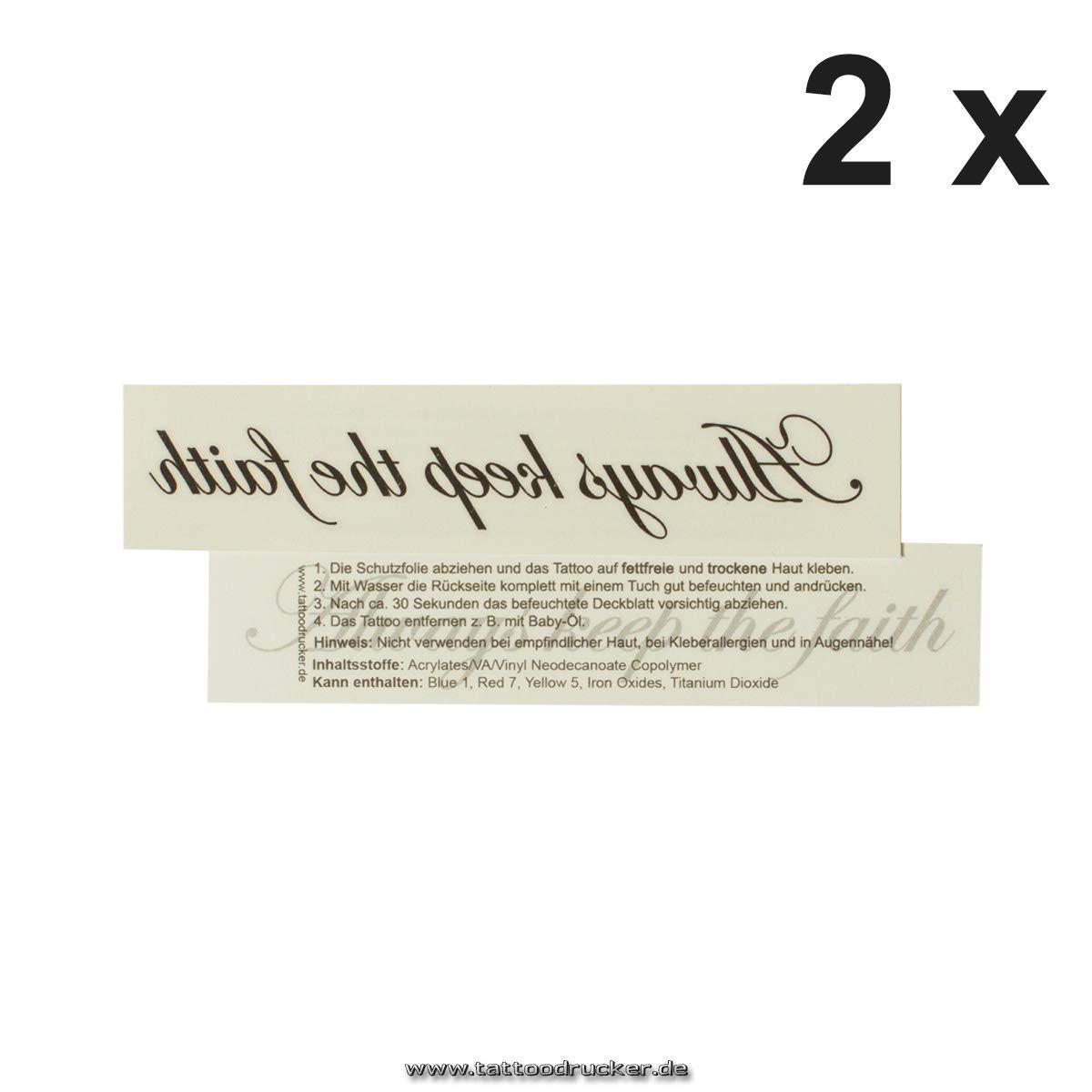 Always Keep The Faith – Negro inscripción