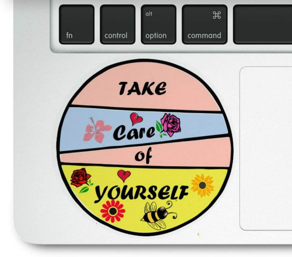 Take Care of Yourself Cute Laptop Trackpad Decal Sticker