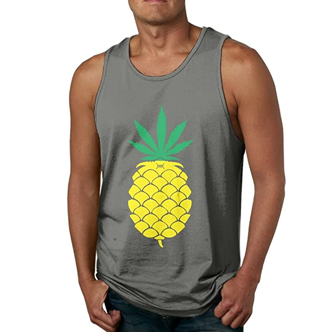 4cb6f6985 YUYU Men's Pineapple (Double Meaning) T-Shirt Athletic Outdoor DeepHeather  Shirts S Tank