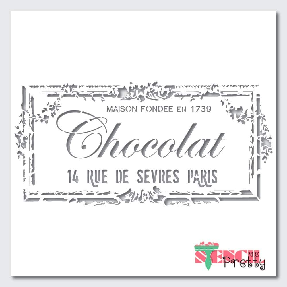 Ranking TOP11 Vintage French Rue Fondee Stencil Best Seasonal Wrap Introduction Vinyl for Stencils Large